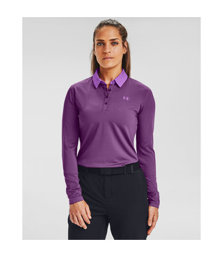 Under Armour UA Zinger LS Polo-Baltic Plum Paars