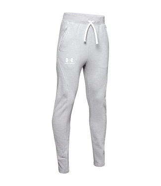 Under Armour Rival Solid Jogger - Mod Gray Light Heather // White
