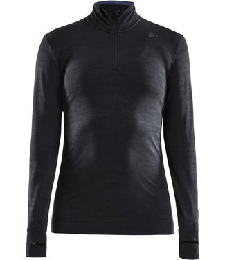 Craft Fuseknit Comfort Zip W Thermoshirt Black