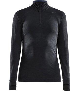 Craft Thermoshirt Fuseknit Comfort Zip W Noir