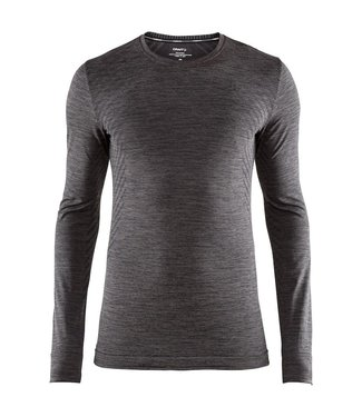 Craft Fuseknit Comfort RN LS M Thermoshirt Schwarz / Grau