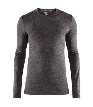 Craft Fuseknit Comfort RN LS M Thermoshirt Zwart/grijs