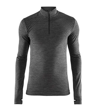 Craft Fuseknit Comfort Zipper M Thermoshirt Black / gray