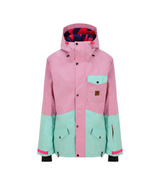 OOSC 1080 ladies ski and snowboard jacket - pastel pink and mint
