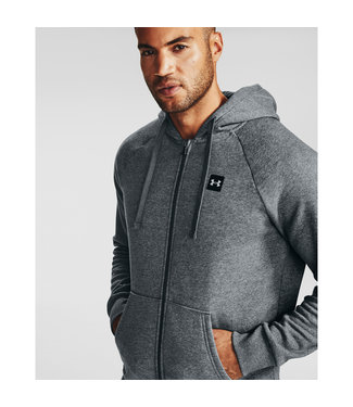 Under Armour Rival Fleece FZ Hoodie-Pitch Gray Light Heather
