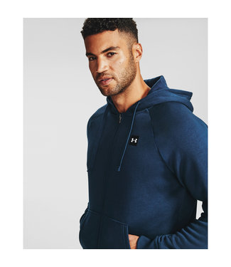 Under Armour UA Rival Fleece FZ Hoodie-Academy /  / Onyx White