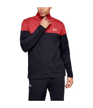 Under Armour SPORTSTYLE PIQUE TRACK JACKET - Martian Red / Black / White