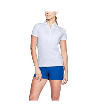 Under Armour UA HG ZINGER SS POLO NOVELTY Blanco