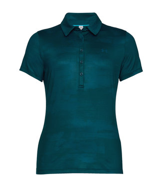 Under Armour UA HG ZINGER SS NOVELTY POLO TECHNO TEAL FEMME