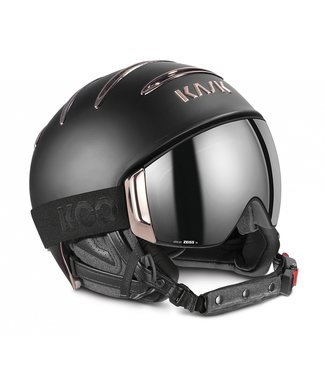 Kask Combo Chrome Schwarz / Rotgold
