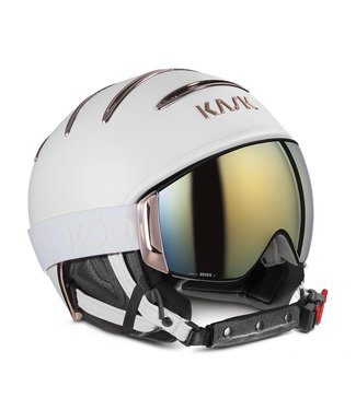 Kask Combo Chrom Weiß / Rotgold