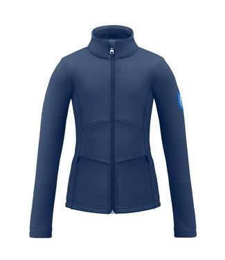 Poivre Blanc stretch fleece jack Gothic blauw - Girls