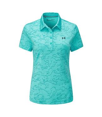 Under Armour Zinger Short Sleeve Novelty Polo-Breathtaking Blue