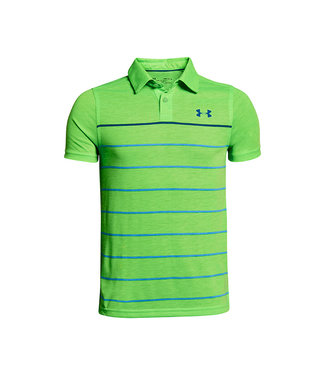 Under Armour THREADBORNE YD ENG. POLO POISON GREEN