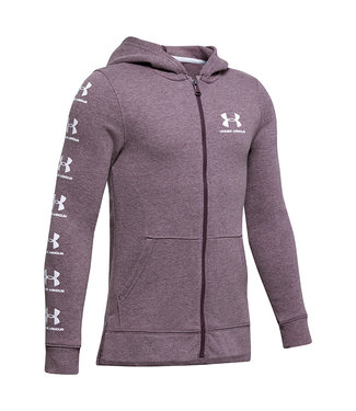 Under Armour Rival Full Zip Hoody - Kinetic Purple Light Heather - Boys