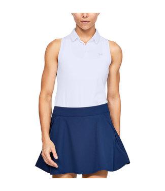 Under Armour UA Zinger Sleeveless Polo-White - Mujer