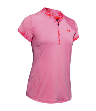 Under Armour UA Zinger Zip Polo-Lápiz labial rosa