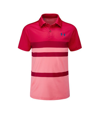 Under Armour Threadborne Engineered Polo - Lava