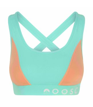 OOSC Pastel Mint Green Medium Support Crossback Sports Bra