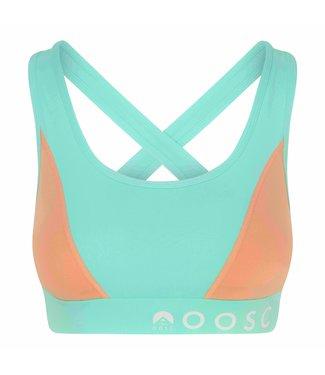 OOSC Pastel mintgroene sport-bh met medium ondersteuning