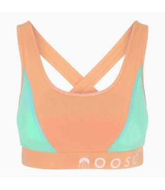 OOSC Pastell Pfirsich Orange Medium Support Crossback Sport-BH