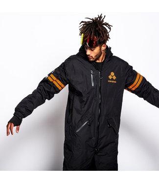Oneskee Original Pro Anzug Schwarz / Orange Streifen