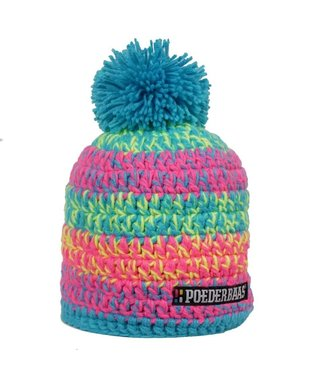 Poederbaas Colorful hat - pink/blue/yellow