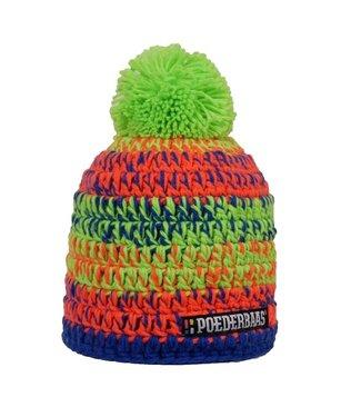 Poederbaas Colorful hat - orange/green/blue