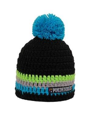 Poederbaas Colorful hat - blue/black/green/grey