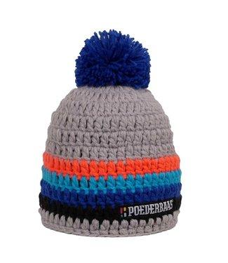 Poederbaas Colorful hat - Grey/Orange/Blue/Black