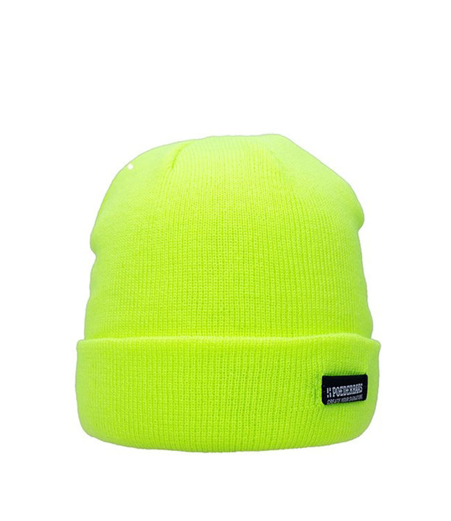Poederbaas Colorful Basic beanie - geel