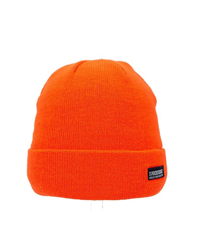Poederbaas Colorful Basic beanie - oranje