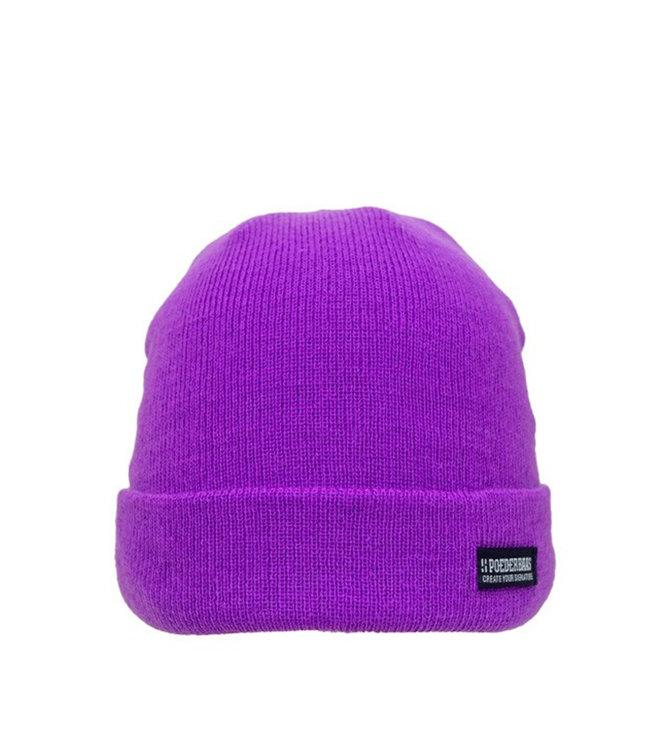Poederbaas Bunte Basic Mütze - lila