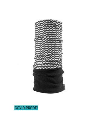 Poederbaas Nekwarmer - streepjes/zebra print