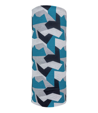 Poederbaas Calentador de cuello - Estampado de camuflaje azul