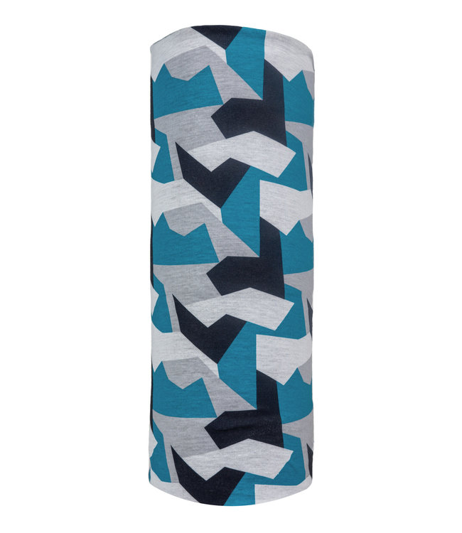 Poederbaas Neck warmer - Blue camo print