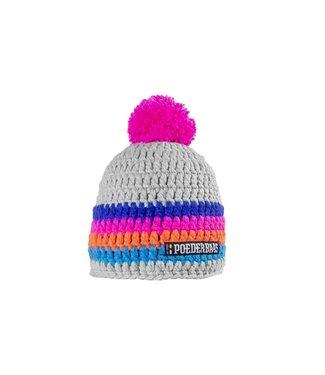 Poederbaas Bunter Hut - grau / pink / orange / blau