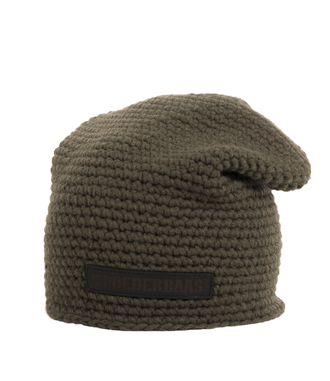 Poederbaas Winter sports hat long - green