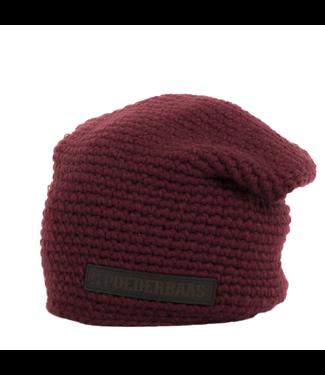 Poederbaas Winter sports hat urban - red
