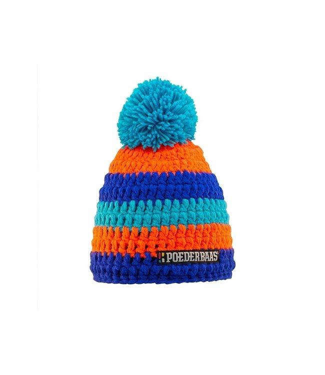 Poederbaas Hut bunt - blau / orange