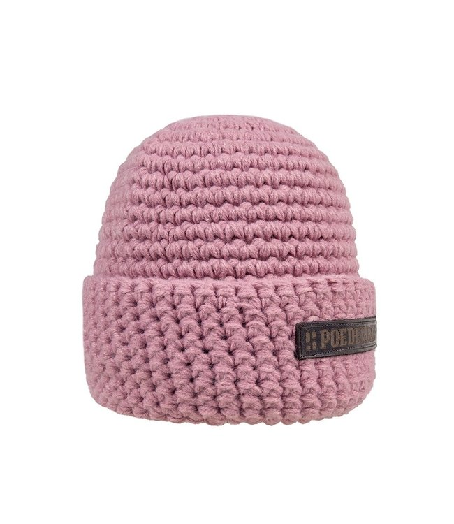 Poederbaas Wintersport muts - roze
