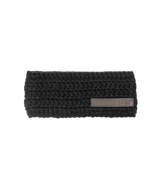 Poederbaas Black headband with fleece
