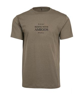 Poederbaas Reiten mit Amigos T-Shirt Green