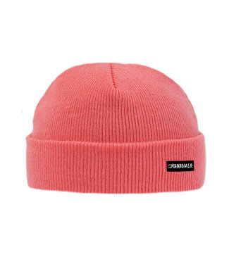 Poederbaas Bright coral kids beanie