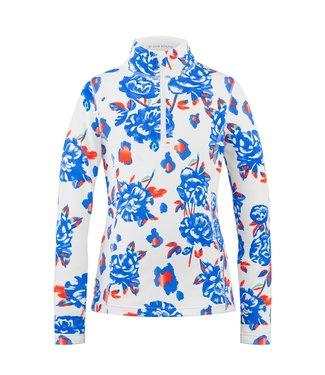 Poivre Blanc 1ST LAYER GIRL SWEATER BLUE FLOWER
