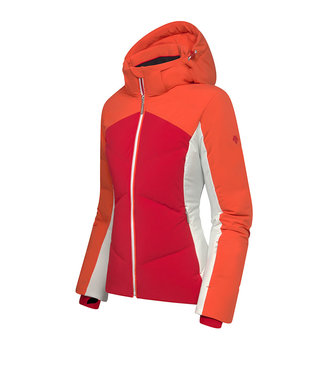 Descente ASIENNA JACKET ORANJE/ROOD ULTRALICHTEN WARM