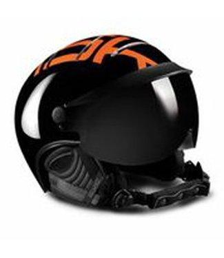 Kask Stijl Zwart / Oranje