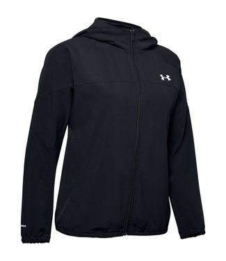 Under Armour Woven Hooded Jacket-Black / Onyx White