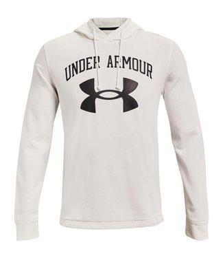 Under Armour UA RIVAL TERRY BIG LOGO HD-Onyx White / Black