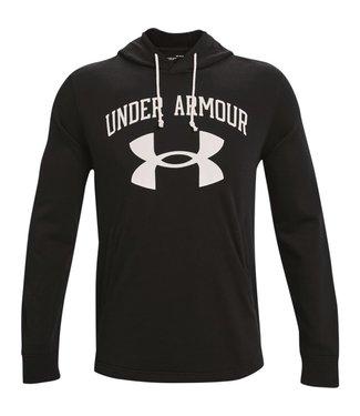 Under Armour UA RIVAL TERRY BIG LOGO HD-Black / Onyx White